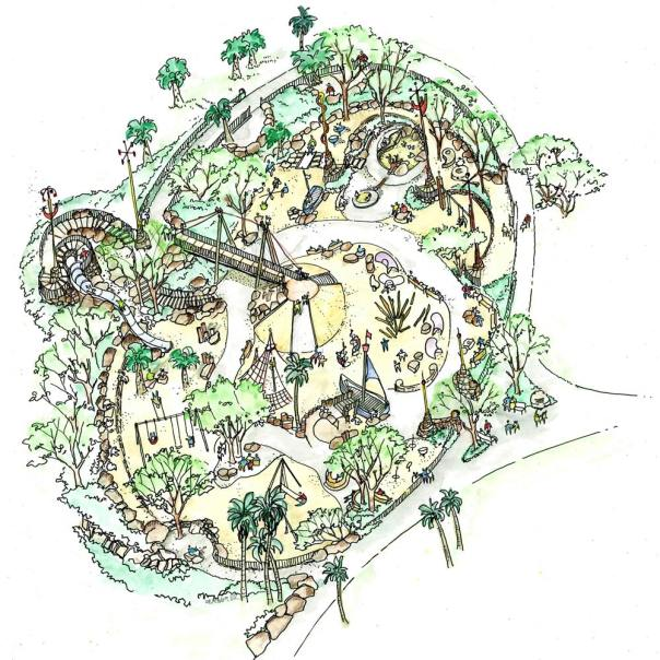 Friends of Dolores Park Playground's sketch of revovation